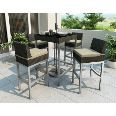 dCOR design Lakeside 5 Piece Bar Height Dining Set