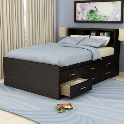 dCOR design Willow Captain's Bookcase Storage Platform Bed