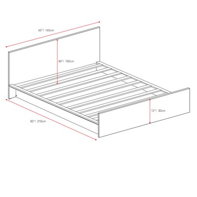 dCOR design Plateau Queen Platform Bed