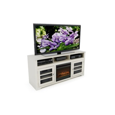 "dCOR design West Lake 60"" TV Stand with Electric Fireplace"
