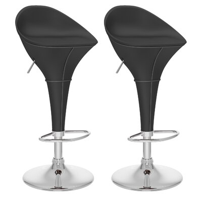 dCOR design Round Styled Adjustable Bar Stool (Set of 2)