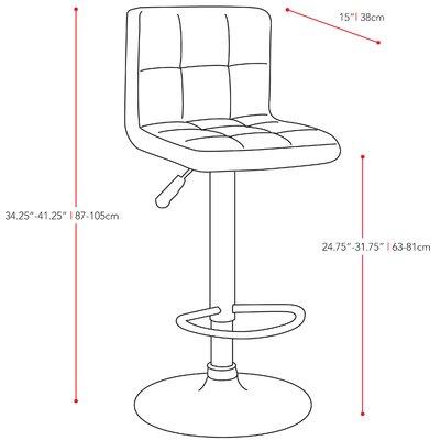 dCOR design CorLiving Adjustable Bar Stool