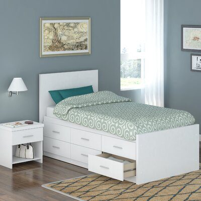 dCOR design Willow Captain's Storage Platform 2 Piece Bedroom Collection