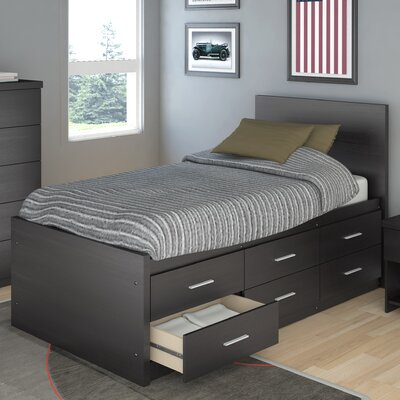 dCOR design Willow Captain's Double Storage Platform Bed