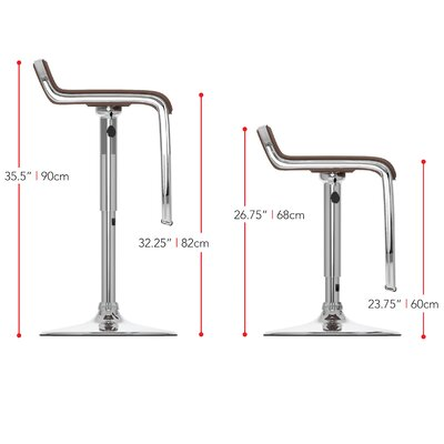 dCOR design Adjustable Bar Stool