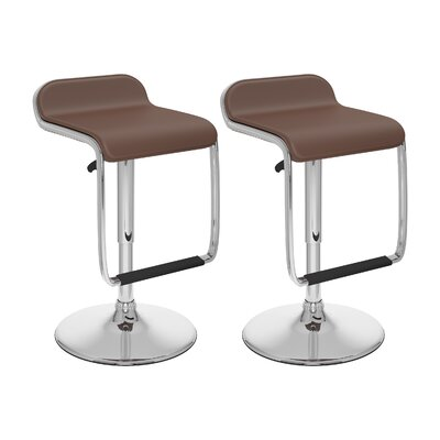 dCOR design Adjustable Bar Stool with Footrest (Set of 2)