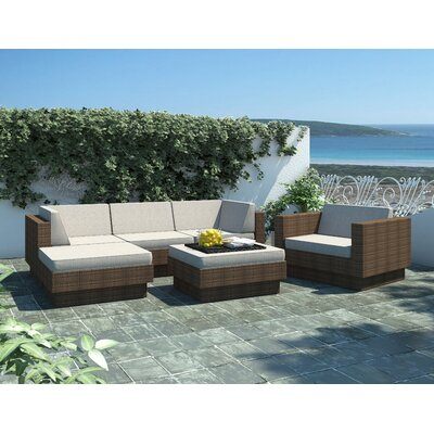 dCOR design Park Terrace 6 Piece Deep Seating Grouping With Cushion
