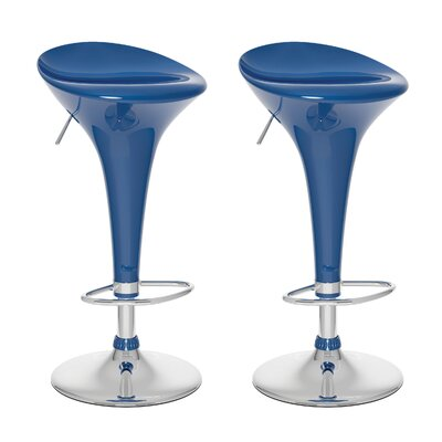dCOR design Form Fitted Adjustable Bar Stool (Set of 2)