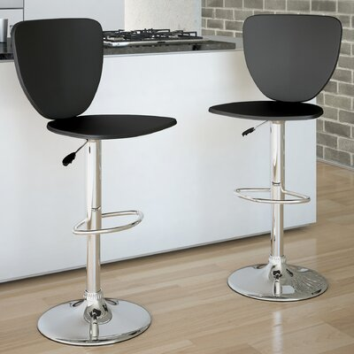 dCOR design High Back Adjustable Bar Stool (Set of 2)