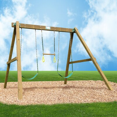 Playtime Swing Sets Classic Swing Set with Swing Beam and Chained Accessories