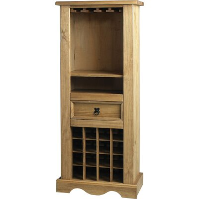 Home Essence Corona Wine Rack in Distressed Waxed Pine