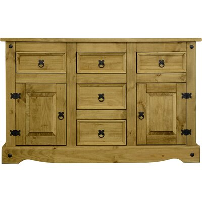 Home Haus Corona 1 Door 4 Drawer Sideboard Reviews Wayfair Uk