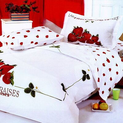 Le Vele Strawberry Duvet Cover Set