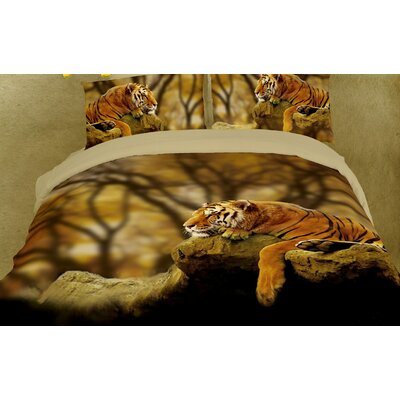 Dolce Mela Lonely Tiger 6 Piece Duvet Cover Set