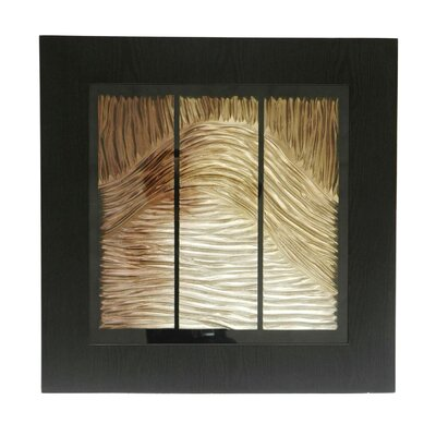 "Crestview Collection Thick Waves Wooden Shadow Box - 24"" x 24"""