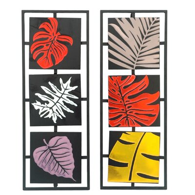"Crestview Collection Bold Leaves Wall Decor - 27.5"" x 10.25"""
