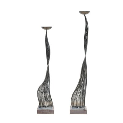 Crestview Collection Pascal Metal Candlesticks (Set of 2)
