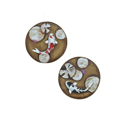 Crestview Collection Coy Painted Wall Décor (Set of 2)
