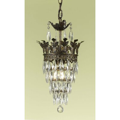 AF Lighting Sovereign 1 Light Mini Chandelier