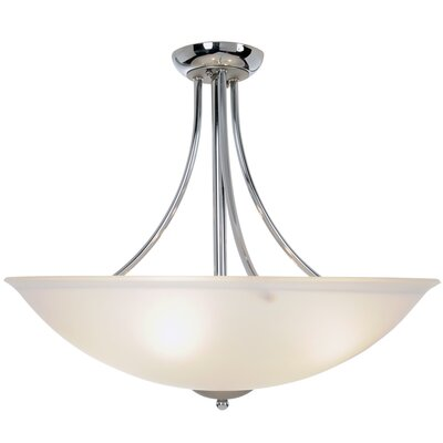 AF Lighting Essen Lighting 4 Light Inverted Pendant