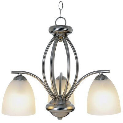 AF Lighting Contemporary 3 Light Chandelier