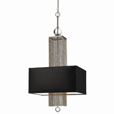 AF Lighting Casby 3 Light Crystal Pendant