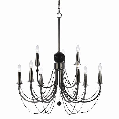 AF Lighting Shelby 9 Light Chandelier