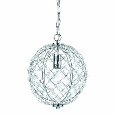 Silver Web 1 Light Pendant