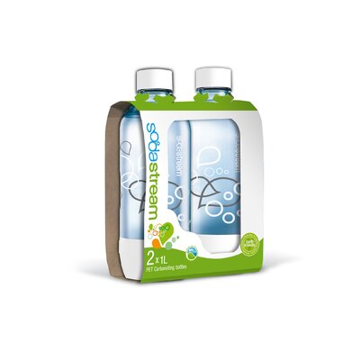 SodaStream 1 Liter Carbonating Bottles (Set of 2)