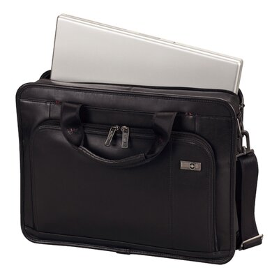 "Victorinox Travel Gear Architecture® 3.0 Wainwright 15.6"" Slimline Leather Laptop Brief in Black"