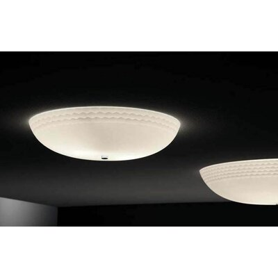 Murano Luce Alias Flush Mount in White
