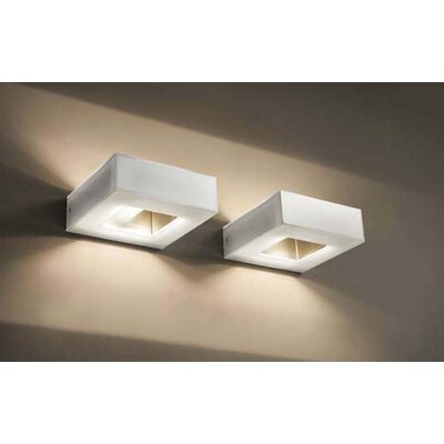 Murano Luce Box Picture Light in Polished Steel