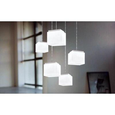 Murano Luce Qb Pendant in White