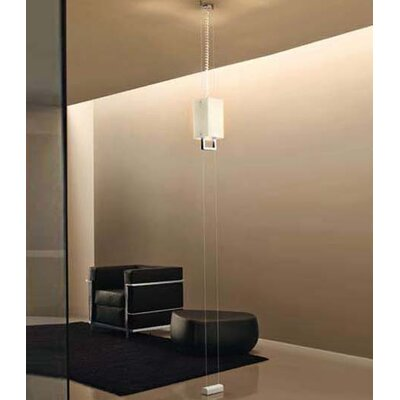 Murano Luce Hang Pendant in Polished Steel