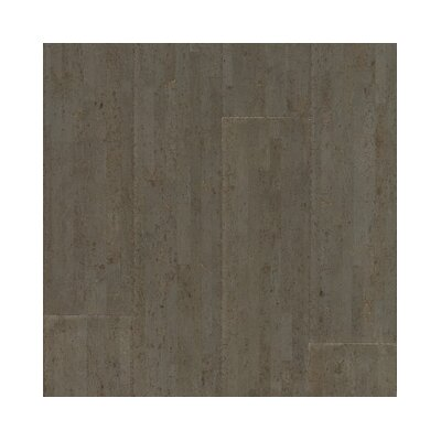 "US Floors Almada Fila 4-1/8"" Engineered Locking Cork Flooring in Cinza"