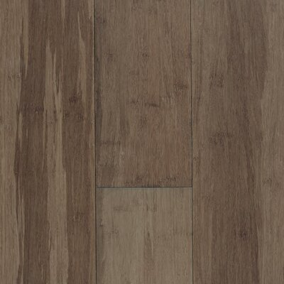 "US Floors Natural Bamboo Expressions 5-1/4"" Solid Locking Strand Woven Bamboo Flooring in River Rock"