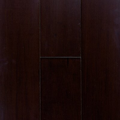 """US Floors Natural Bamboo Expressions 5-1/4"""" Solid Locking Strand Woven Bamboo Flooring in Lava"""