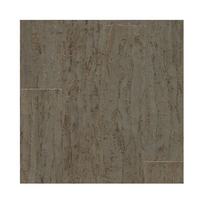 "US Floors Almada Tira 4-1/8"" Engineered Locking Cork Flooring in Cinza"
