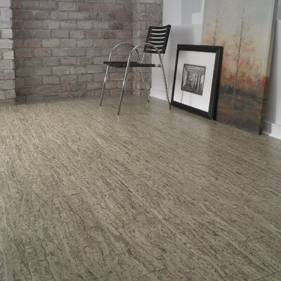 "US Floors Almada Tira 4-1/8"" Engineered Locking Cork Flooring in Areia"
