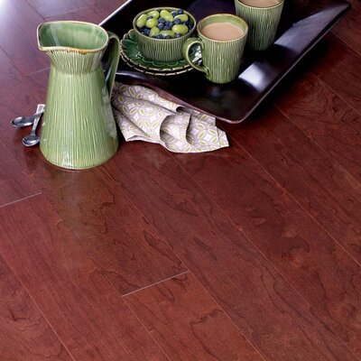 "Columbia Flooring Morton 5"" Engineered Hardwood Cherry Flooring in Black"