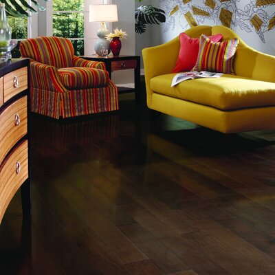 "Columbia Flooring Lewis 3"" Engineered Hardwood Walnut Flooring in Mocha"