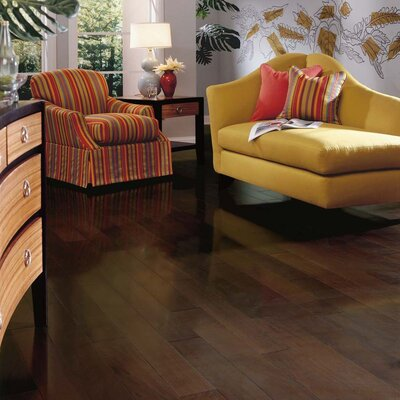 "Columbia Flooring Lewis 5"" Engineered Hardwood Walnut Flooring in Mocha"