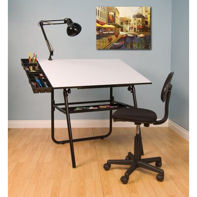 Studio Designs Ultima Four Piece Laminate Drafting Table Set