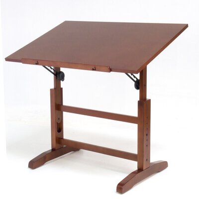 Studio Designs Creative Hardwood Drafting Table and Stool Set