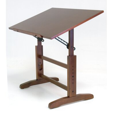 Studio Designs Creative Hardwood Drafting Table and Stool Set