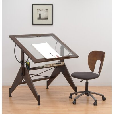 Studio Designs Aries Glass Drafting Table