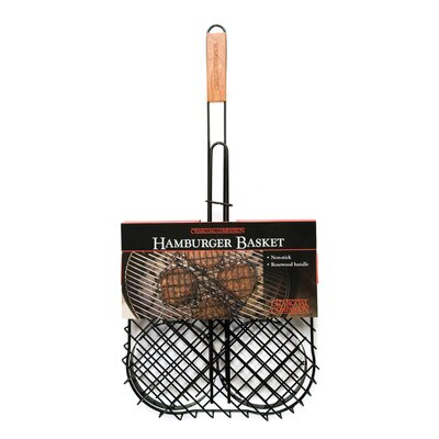 Charcoal Companion Non-Stick Hamburger Grilling Basket