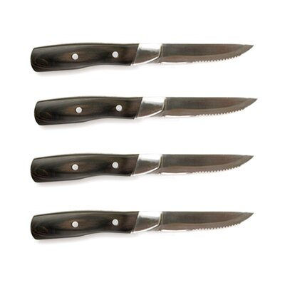 Steven Raichlen Forged Stainless And Pakkawood Steak Knive (Set of 4)