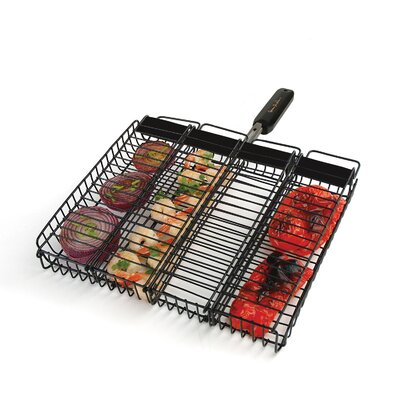 Charcoal Companion Steven Raichlen Non-Stick Rectangular Compartment Basket
