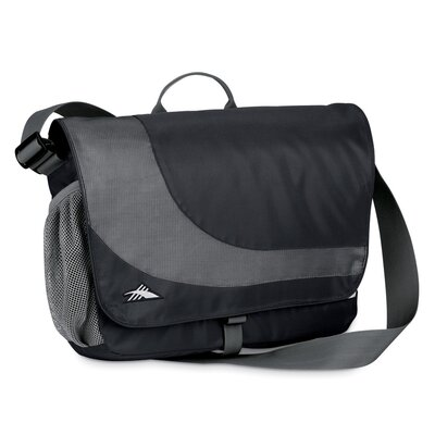 High Sierra Chip Laptop Messenger Bag in Black/Charcoal